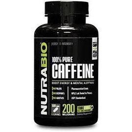 NUTRABIO 100% Pure Caffeine (200mg)