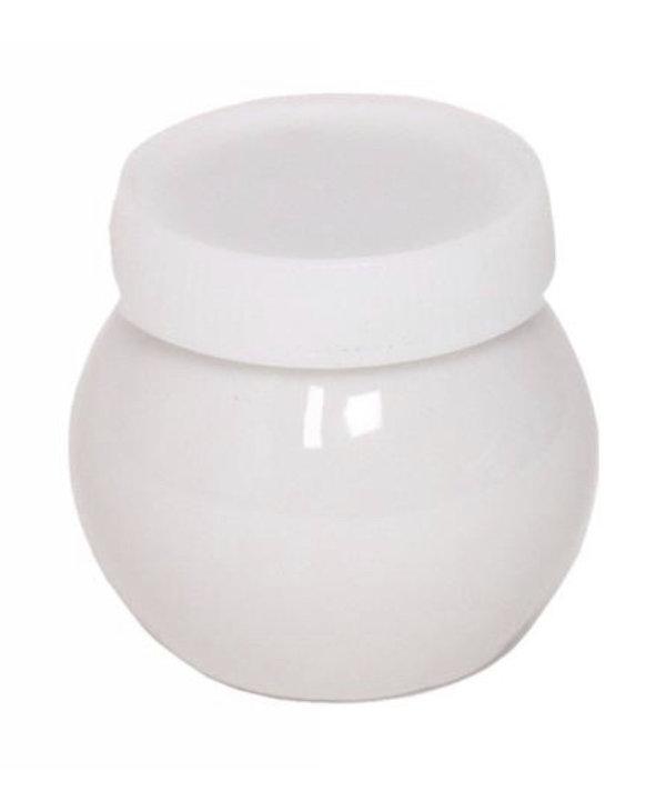 Pot à Acrylique en Porcelaine Bleu avec Couvercle