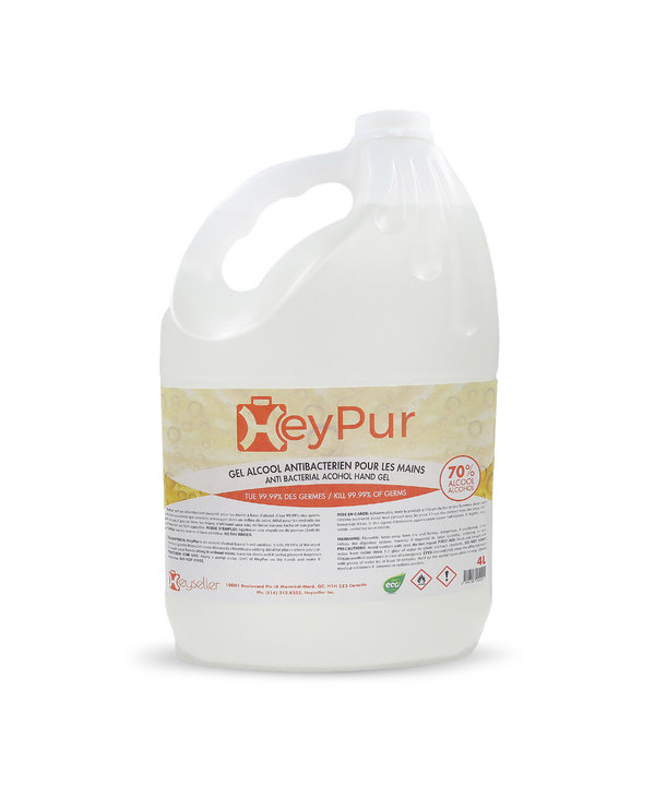 Gel alcool antibactérien 70 % alcool (gallon)