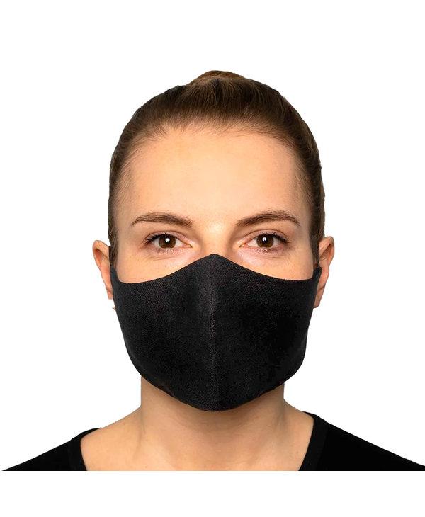 Masque Lavable Réutilisable 2 couches Noir pour protection maximale