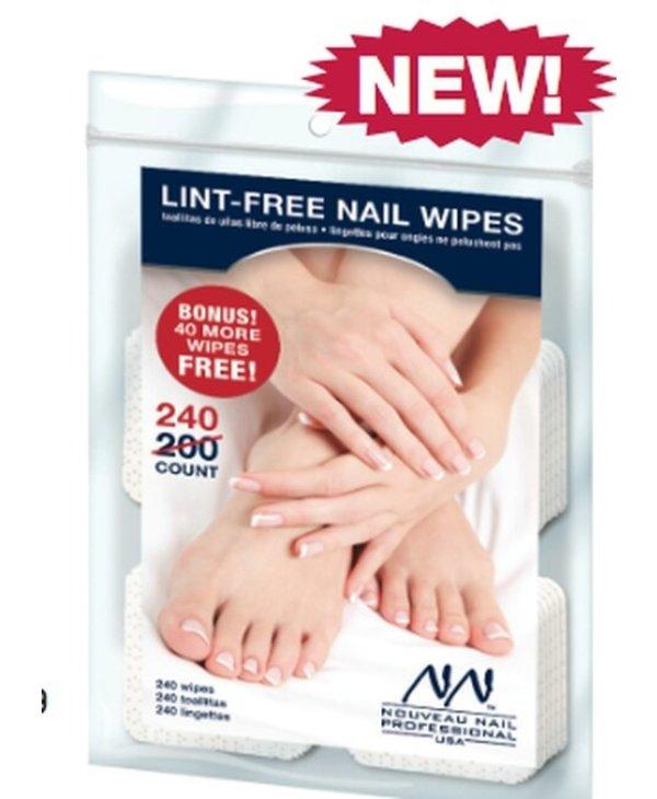 Nouveau Nail Lint-Free Nail Wipes 240pcs