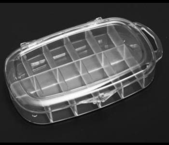 11-Mini Boîte Ronde en Plastique Dur pour Prothèses