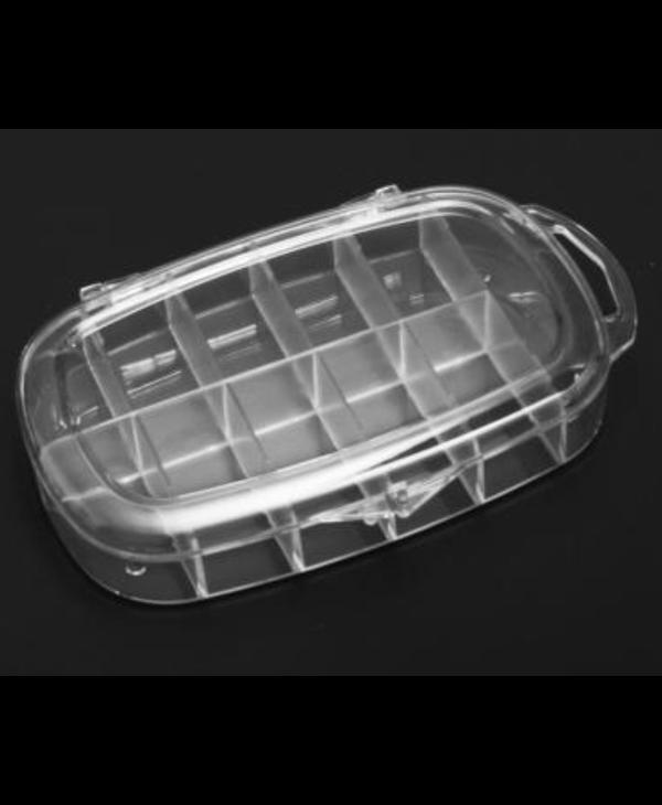 11-11-Mini Boîte Ronde en Plastique Dur pour Prothèses