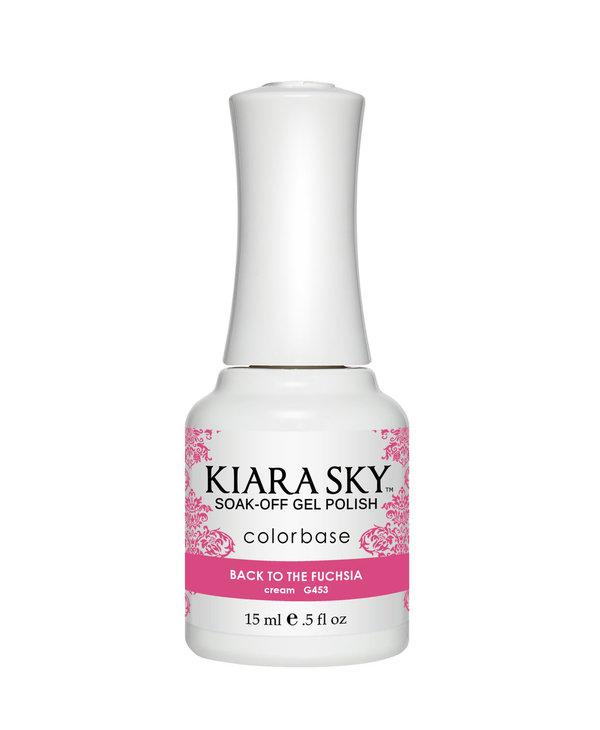 Kiara Sky Gel Polish G453 BACK TO THE FUCHSIA-cream