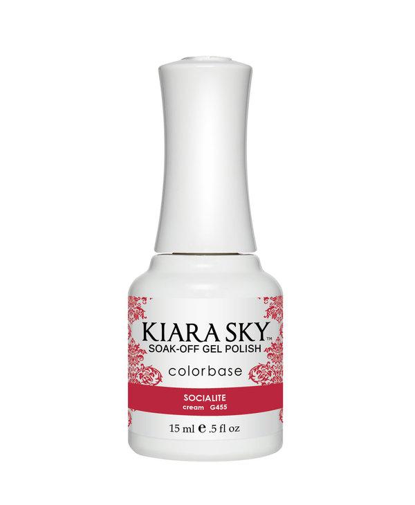 Kiara Sky Gel Polish G455 SOCIALITE-cream