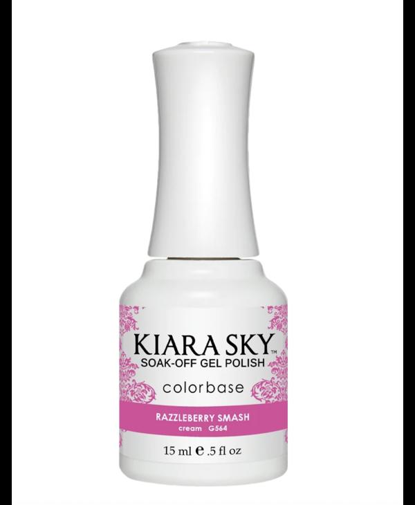 Kiara Sky Gel Polish G564 RAZZLEBERRY SMASH-cream