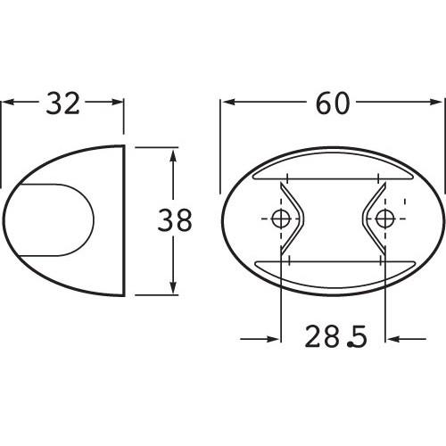 Hella 2051. 2.5 MTR CABLE. 4 PIECES        2PF
