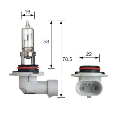 Narva 12V HB3 60W P20D Halogen Headlight Globe (Box of 1)