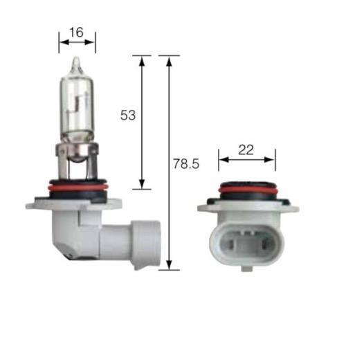 Narva 12V HB3 60W PLUS 50 Longer Life Halogen Headlight Globe (Blister pack of 2)