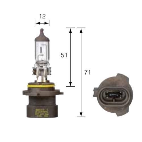 Narva 12V HB4A 51W P22D Halogen Headlight Globe (Blister pack of 1)