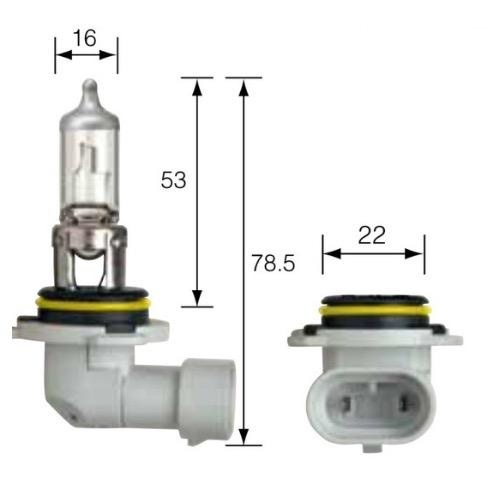 Narva 12V HB4 51W ARCTIC PLUS 50 Halogen Headlight Globe (Blister of 2 plus 2 park lamp Globe)