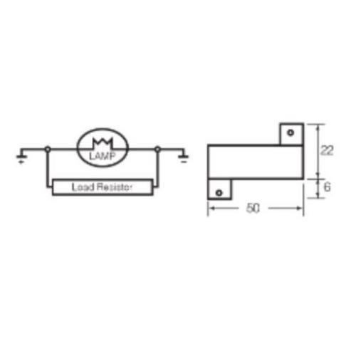 Narva 12V 21 Watt L.E.D Load Resistor (Blister Pack)