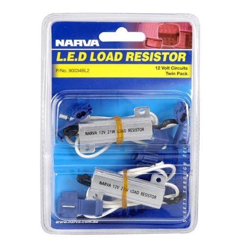 Narva 12V 21 Watt L.E.D Load Resistor - Twin Blister Pack