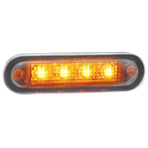 Narva 10-30V - Model 8 L.E.D Front End Outline Marker Lamp (Amber) w/ 0.5m Cable