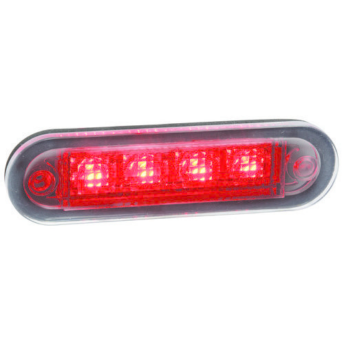 Narva 10-30V - Model 8 L.E.D Rear End Outline Marker Lamp (Red) with 2.5m Cable