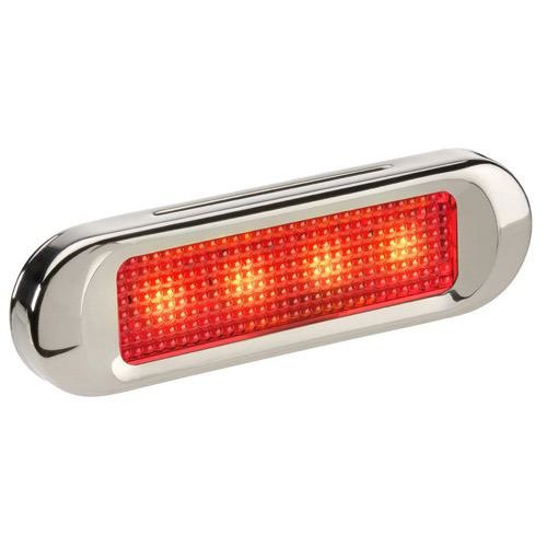 Narva 10-30V - Model 8 L.E.D Front End Outline Marker Lamp (Red) with S/S Cover (Blister Pack)