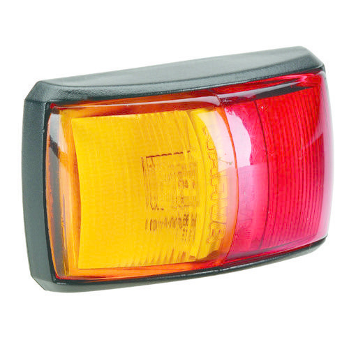 Narva 10-33V - Model 14 L.E.D Side Marker Lamp (Red/Amber) w/ Black Deflector Base & 2.5m Cable