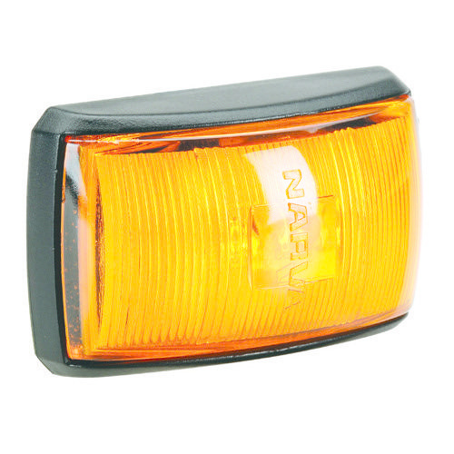 Narva 10-33V - Model 14 L.E.D Side Marker, External Cabin or Front End Outline Marker Lamp (Amber) w/ Black Deflector Base & 2.5m Cable