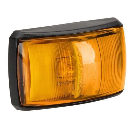 Narva 10-33V - Model 14 L.E.D Side Direction Indicator Lamp (Amber) w/ Black Deflector Base & 0.5m Cable (Blister Pack)