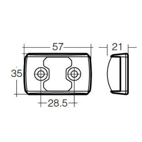 Narva 10-33V - Model 14 L.E.D Side Direction Indicator Lamp (Amber) w/ Black Deflector Base & 2.5m Cable