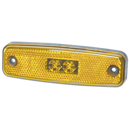 Narva 10-30V - Model 20 L.E.D Side Marker Lamp or Front End Outline Marker Lamp (Amber) w/ In-built Retro Reflector & 0.5m Cable