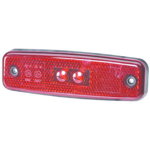 Narva 10-30V - Model 20 L.E.D Rear End Outline Marker Lamp (Red) w/ In-built Retro Reflector & 0.5m Cable