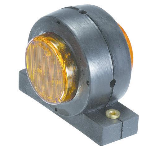 Narva 10-30V - Model 30 L.E.D Side Direction Indicator Lamp (Amber/Amber) in Neoprene Body