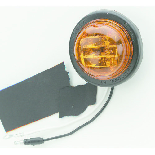 Narva 12V - Model 30 L.E.D Side Direction Indicator or External Cabin Lamp (Amber) w/ Vinyl Grommet