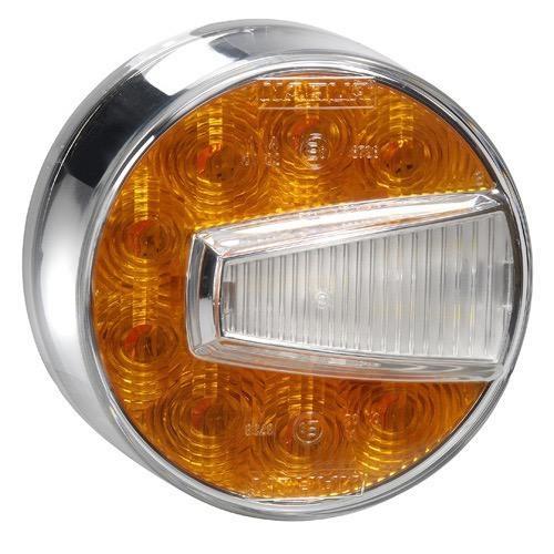 Narva 12V - Model 50 L.E.D Front Direction Indicator & Front Position Lamp (Amber/White) (LH)