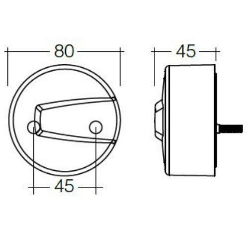 Narva 12V - Model 50 L.E.D Front Direction Indicator & Front Position Lamp (Amber/White) (RH)