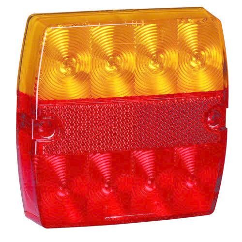 Narva 12V - Model 34 L.E.D Slimline Rear Stop/Tail, Direction Indicator Lamp (Square) - Blister Pack