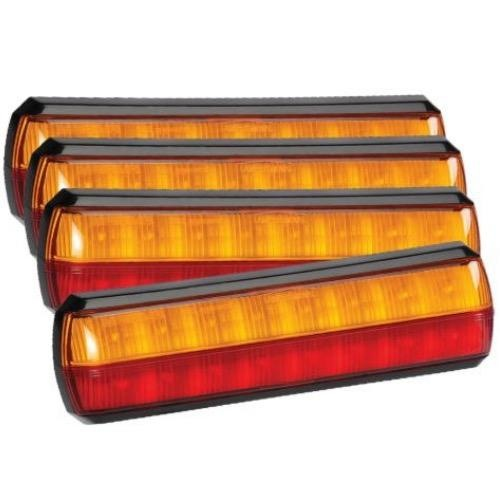 Narva 10-30V - Model 38 L.E.D Slimline Rear Stop/Tail & Direction Indicator Lamp (4 Packs)