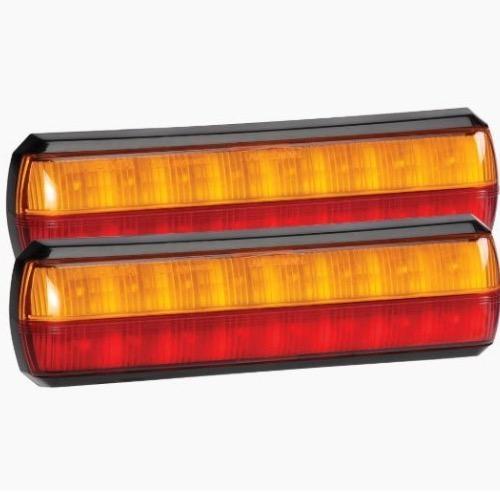 Narva 10-30V - Model 38 L.E.D Slimline Rear Stop/Tail & Direction Indicator Lamp Pack - Blister Pack of 2