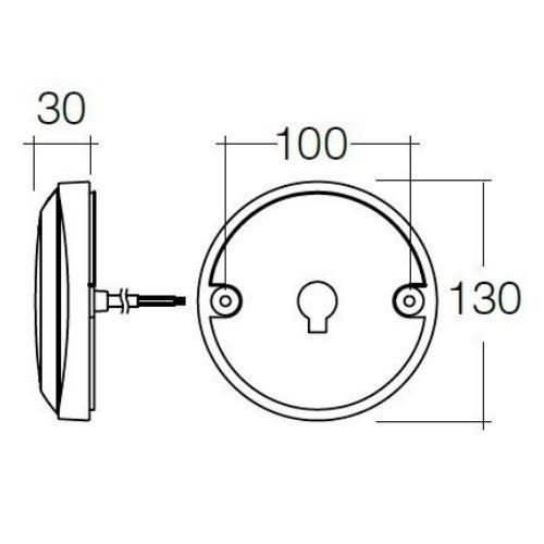 Narva 12V - Model 43 L.E.D Rear Direction Indicator Lamp (Amber)