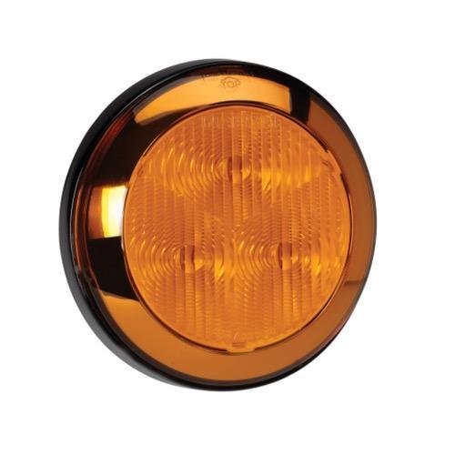 Narva 12V - Model 43 L.E.D Rear Direction Indicator Lamp (Amber) w/ Chrome Ring