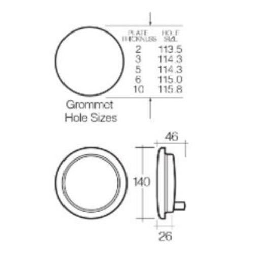 Narva 12V - Model 44 L.E.D Rear Direction Indicator Lamp (Amber) w/ Vinyl Grommet