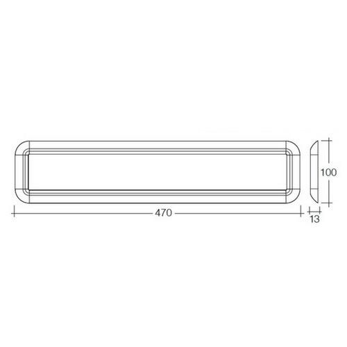 Narva 10-30 Volt LED Interior Light Panel without Switch - 470mm x 100mm
