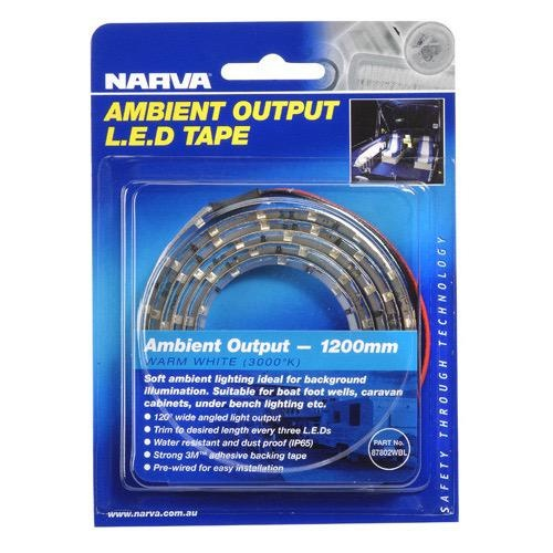 Narva 12 Volt LED Tape, Ambient Output, Warm White (3000°K)