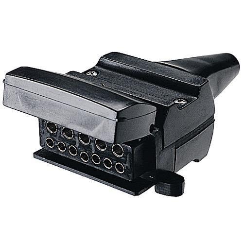 Narva 12 Pin Flat Trailer Socket - Blister Pack