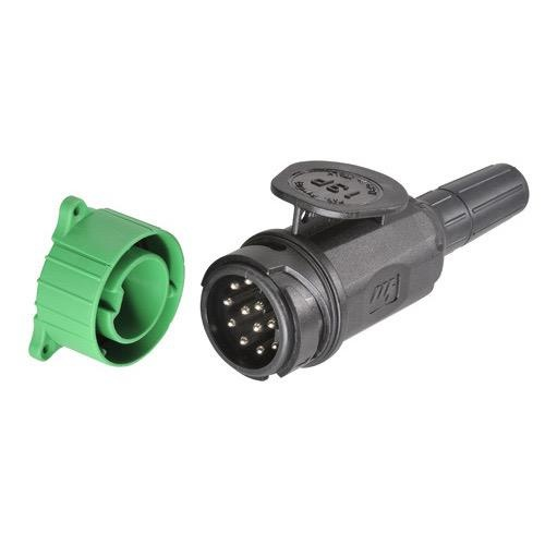 Narva 12 Volt 13 Pin Euro Round Plastic Trailer Plug w/ Parking Socket