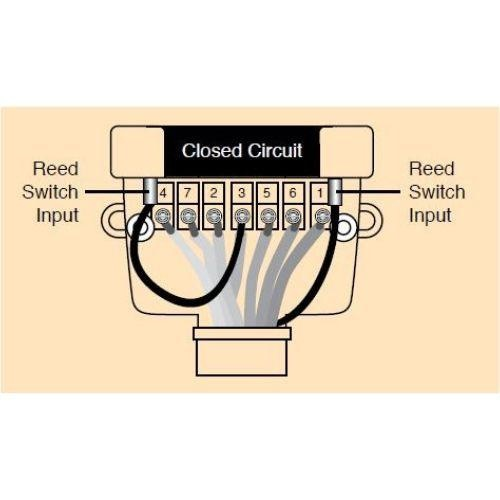 Narva 12 Pin Flat Trailer Socket w/ Reed Switch for use w/ Normally Closed Circuits - Blister Pack