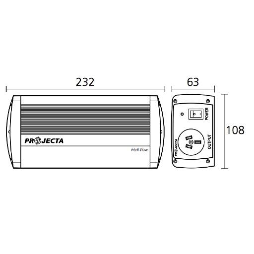Narva 12V 150W Pure Sine Wave Inverter