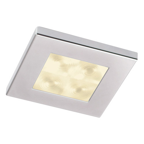 Hella 0596 and 0597 Series Square Downlights Warm White Light LED Downlights - Spot Chrome plated rim 12V DC
