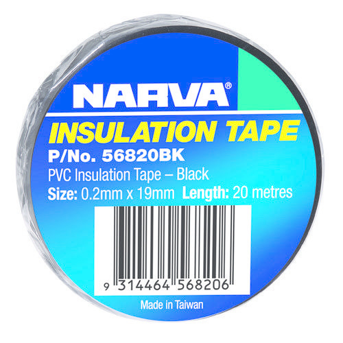 Narva PVC Insulation Tape (20m Length per Roll) Thickness: 0.20mm - Width: 19mm
