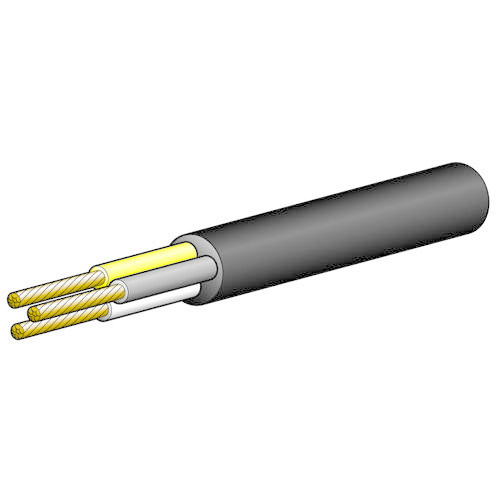 Narva 10A 3 Core Cable - Dia: 3mm (White/Yellow/Brown)
