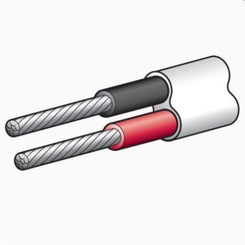 Narva 15A Twin Core Cable - Dia: 4mm - Length: 30m - Red/Black w/ White Sheath