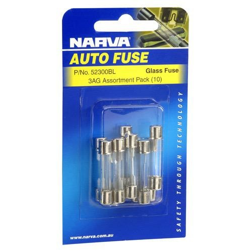 Narva 1 Amp 3AG Glass Fuse - Pack of 50