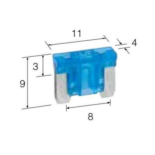 Narva 10 Amp Red Micro Blade Fuse - Pack of 25