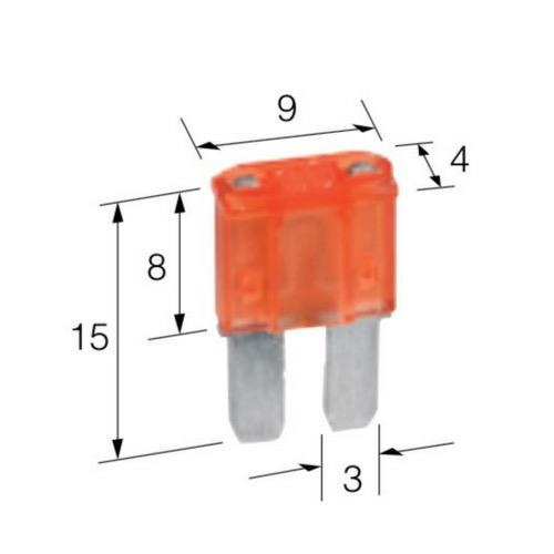 Narva 10 Amp Red Micro 2 Blade Fuse - Pack of 5