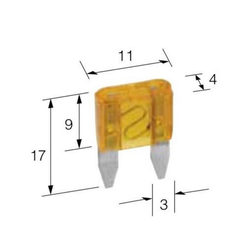 Narva 10 Amp Red Mini Blade Fuse - Pack of 50